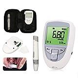 YUIOP Medidor de Glucosa en Sangre Kit, Test Kit Hogar Medidor Supervisión Sistema de Cuidado de la Salud for la Diabetes 45 Piezas de Papel de Prueba