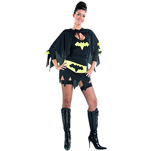 Atosa-73911 Disfraz mujer super héroe comic, color negro, M-L (73911) , color/modelo surtido