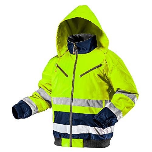 NEO TOOLS Thermo Warnschutzjacke Warnjacke orange Neon gelb Arbeitsjacke Warnschutz Sicherheitsjacke XL Neongelb