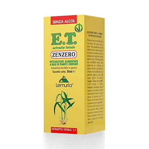 ZENZERO E.T. estratto totale 1:1 senza alcol Integratore Alimentare a Base di Piante e Derivati - 30 ml