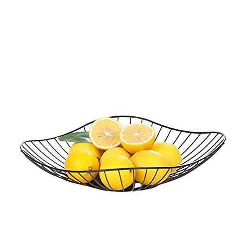 HYDL Fruit Stand for Kitchen, Metal Fruit Bowl, Wire Fruit Basket, Vegetable Snack Bread Storage for Kitchen, Home, Centerpieces and Countertops Style1