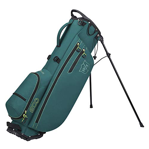 Wilson Staff Sac de Golf, ECO Carry Bag, Sac Trépied, Vert, Support Intégré, 1,9 kg, WGB6400GR