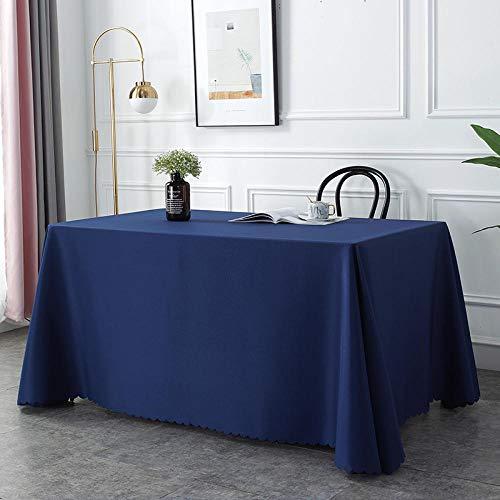 QKEMM Mantel para Mesa de Cocina o Salón Hojas Rectangular Suave Resistente Al Desgaste y Duradero Lavable Diseño de Comedor Decoración del Hogar Azul Marino 120×160cm