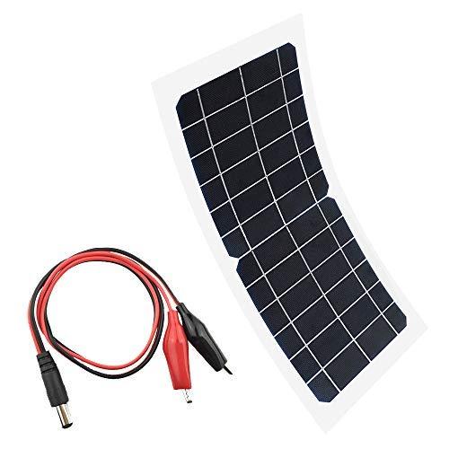 XINPUGUANG Pannello solare 10w 6v Caricatore monocristallino flessibile per auto, macchina fotografica, barca, zaino, telefono, campeggio, ricarica leggera (6V)