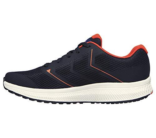 Skechers Go Run Consistent-Traceur, Zapatillas Hombre, Nvor Black Textile/Synthetic/Blue Trim, 46 EU