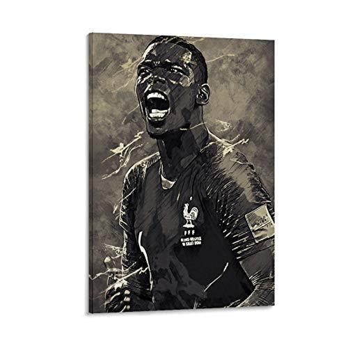 LKJHLK Paul Pogba Poster da parete Calcio Calcio da Calcio Stampa artistica su tela per Ufficio Camere da Letto Case, Dormitorio – Regalo per Ragazzo Uomo 50 x 75 cm