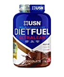 USN Diet Fuel Ultralean Weight Control Meal Replacement Protein Shake Powder, Chocolate, 2 kg (Packaging May Vary)