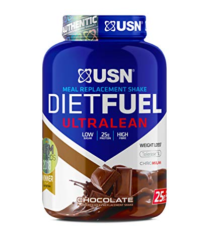 USN Diet Fuel Ultralean Weight Control Meal Replacement Protein Shake Powder, Chocolate, 2 kg (Packaging May Vary) UN108