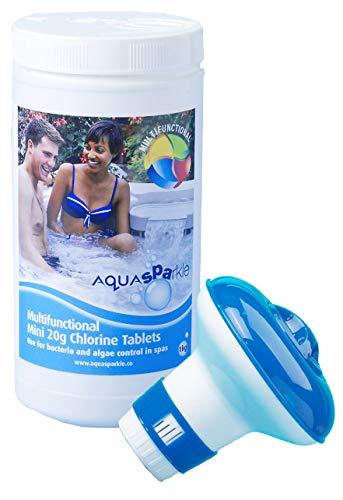 AQUASPARKLE Floating Dispenser + 50 Ultimate Chlorine Tablets 20g Hot Tub...