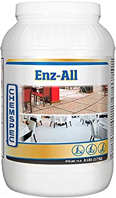 Chemspec ENZ-All – Professional Multi-Purpose Enzyme Traffic Lane Carpet Cleaning Concentrate, 1-6 lb jar