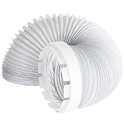 SPARES2GO Vent Hose & Adaptor Kit For Indesit Tumble Dryer (2 Metres, 4'' Fitting)