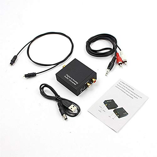 Wolfberrymetal Convertidor de Audio Digital a analógico, convertidor de Audio Digital coaxial...