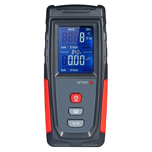 KKmoon EMF Meter, Rivelatore di Radiazione Elettromagnetica Misuratore di Radiazione del Campo Elettromagnetico Mini LCD Digitale a Mano Dosimetro di Alta Precisione