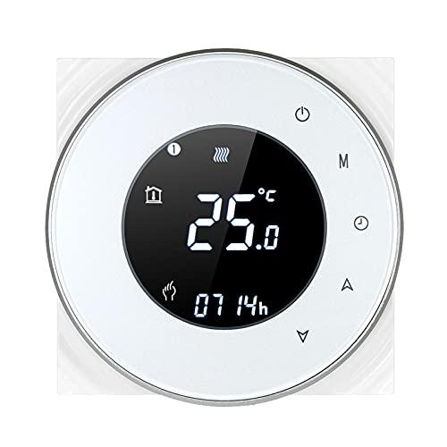 95-240V Termostato inteligente Wi-Fi Termostato de calefacción eléctrico programable Controlador de temperatura Control de aplicación de voz Retroiluminación LCD Termorregulador de calefacción