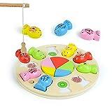 Fajiabao Juguetes de Madera Puzzle Niños 3 4 5 6 Años Magnetico-Juego de Pescar Juegos de Mesa para Niños Montessori Educativos Puzzle Madera Infantiles Regalo Niñas Niños 3 4 5 6 Años