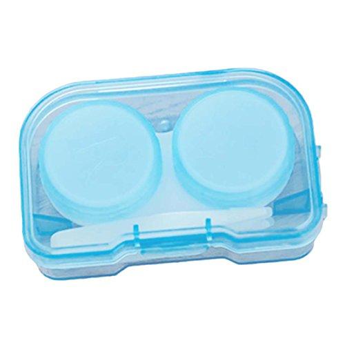 NoyoKere Zufällige Farbe Transparent Tasche Kunststoff Kontaktlinsenbehälter Travel Kit Einfach Nehmen Container Brillenhalter