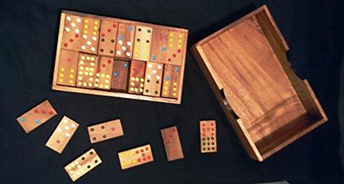 Domino 56 piezas y 4 juegos más. Juego de mesa. Juego de madera. Handmade
