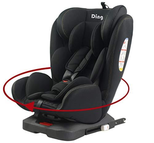 Ding Twist 360° Kindersitz mit Isofix 0-36 kg, drehbar, ECE44/04 Prüfsiegel, schwarz YB104A
