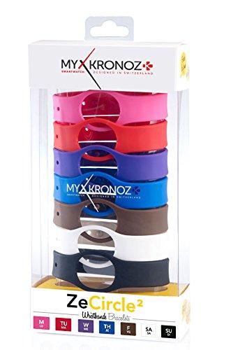 MyKronoz 813761021647'zecircle2Pack–7Bracelets–Braccialetto di Ricambio Classic Smartwatch