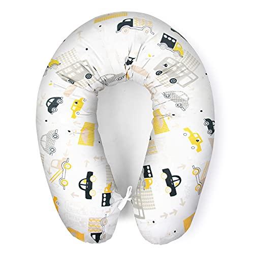 Cojín de lactancia con relleno para bebé pequeño, cojín para dormir de lado, cojín de embarazo para dormir, de algodón, incluye funda de tamaño 170 cm