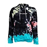 Call Her Daddy I Am Unwell Tie Dye Hoodie (Black, X-Large)