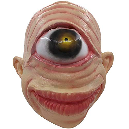 molezu Single Eye Cyclops Maske, Scary Alien Mask Halloween Horror Maske