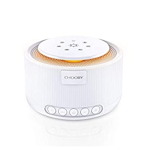 CHOOBY White Noise Machine, Portable Noise Cancelling Sleep Machine with Auto-Off Timer, Rechargeable Noise Maker of Memory Feature for Adults Baby, Relax Therapy with 30 Non-Looping Sound