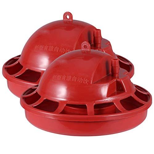 2 Pcs Poulet Mangeoire - Bébé Poussin Mangeoire sans Déchets Poulet Mangeoire Pot, Poussin Nourrir pour Jardin décoration Oiseaux et Animaux