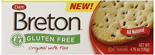 Dare Breton Gluten Free Crackers, Original with Flax, 4.76 Ounce (Pack of 6) by Dare