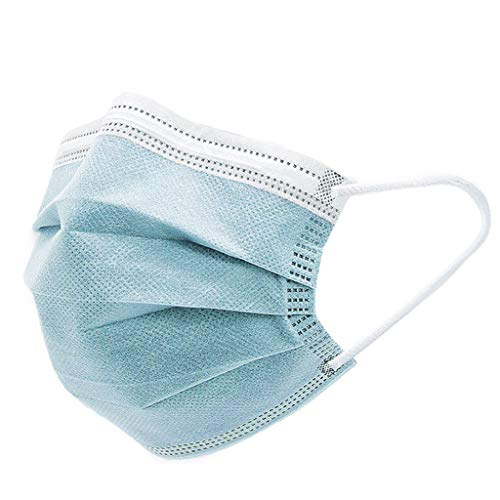 50pcs 3-Ply Ear-loop Disposable Face Masks Highly Protective Lightweight & Breathable