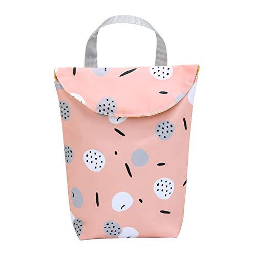 HaHawaii Diaper Bag, Animal Tree Print Waterproof Portable Baby Diaper Nappy Storage Bag Organizer - Pink S
