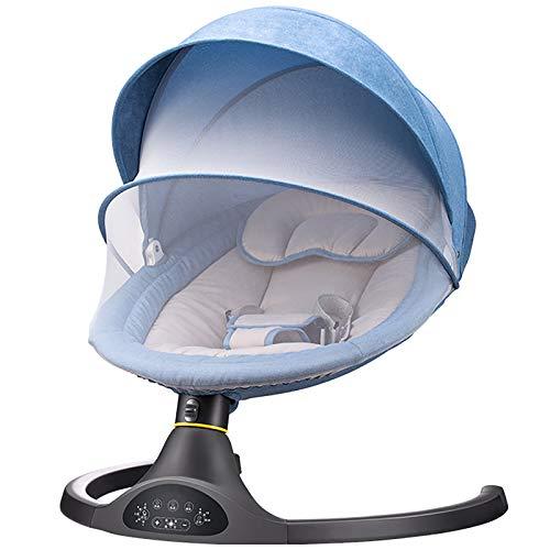 GZP Elektrischer Baby Türsteher Stuhl Mit Fernbedienung, 5 Schwenkamplituden Und 3-Stufiger Timing-Funktion, Automatischer Baby Türsteher, Abnehmbares Moskitonetz - Neugeborenes Baby Rocker
