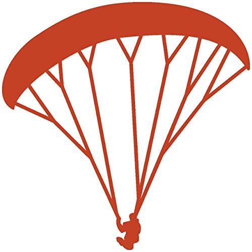 Samunshi® Paraglider Aufkleber Gleitschirm in 8 Größen und 25 Farben (8x8cm kupfermetalleffekt)