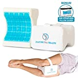 Posture Pro Health Memory Foam Orthopedic Knee Pillow with Cooling Gel & Adjustable
