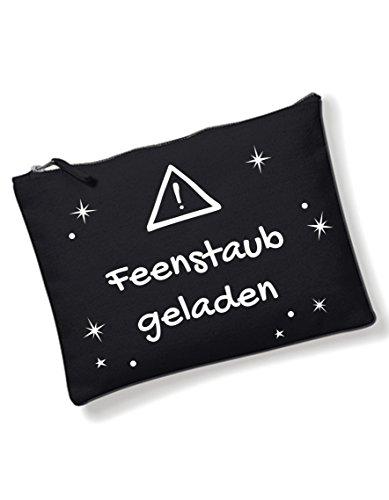 Make Up Federmäppchen Federtasche Stift Tasche Schmink-Tasche Kosmetik-Tasche klein schwarz Damen Mädchen Feenstaub geladen