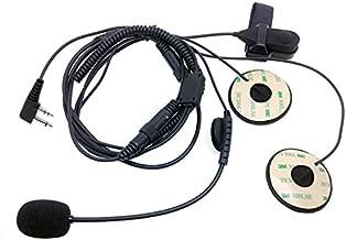 CQtransceiver F1 Racing Helmet Headset Microphone for Icom Walkie Talkie IC-F14 IC-F24 Vertex VX500 VX510 VX200