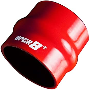 2 Red T Bolt Clamp Upgr8 Universal 4-Ply High Performance 2 Straight Hump Coupler Silicone Hose 51MM