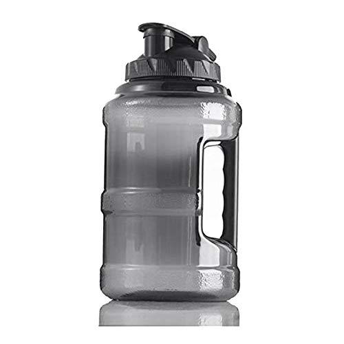 Dcolor Bouteille d'eau de Gym,Grande Cruche d'eau Fitness en Plastique pour Le Camping en Plein Air,Formation de Fitness,Musculation,Bouteille d'eau de Sport de 2,5 litres avec PoignéE