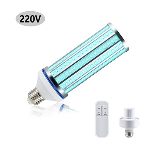 AHHYH Lampada di sterilizzazione Lampadina UV 60W Luce di disinfezione senza ozono Lampada germicida Lampadina LED UVC per la casa