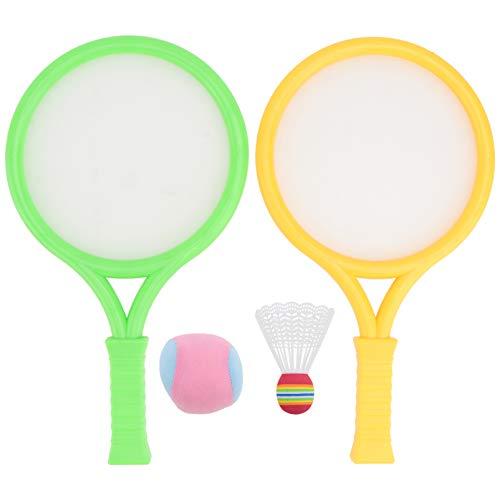 TOYANDONA Juego de Bádminton para Niños Y Lanzadera Raqueta de Tenis Juego de Juguetes para Deportes Al Aire Libre para Niños Niños Pequeños L