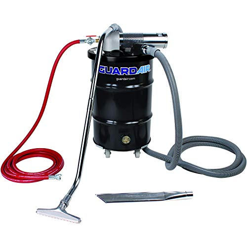 Great Features Of Nortech Guardair Pneumatic Vacuum N301DC 30 Gallon Drum Complete Kit with D Venturi Head, 1.5-Inch Inlet, Hose and Tools