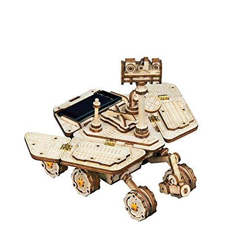Taoke 3D-Puzzle 3D-Puzzle aus Holz Mechanische Modelle mechanische Getriebe Montage Spielzeug Constructor Bausätze Mechanische Modellbau-Set (Farbe: Natur, Größe: 120x125x125 (mm)) 8bayfa