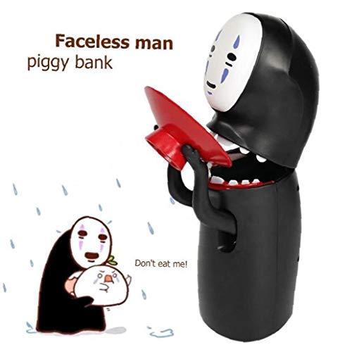 AMOYER No Face Man Piggy Bank-Geld-Cartoon-Figuren Spielzeug Musik Abbildung Mann Ohne Gesicht Geschenk