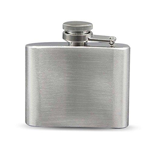 Petaca de acero inoxidable con bolsillo macho pequeño y portátil, ideal para whisky o como regalo