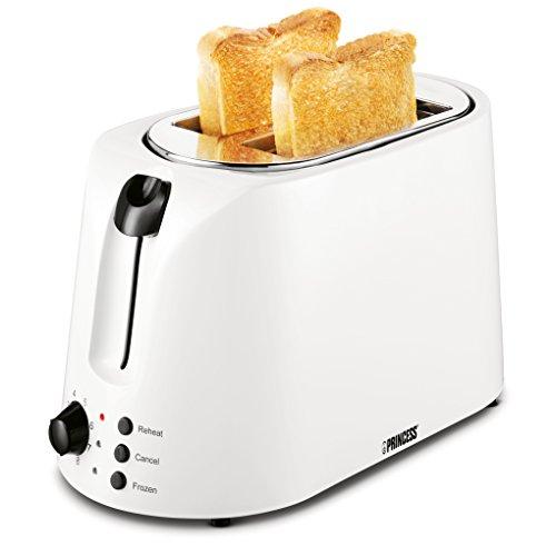 Princess Croque Monsieur Toaster, 2 Schlitze, Sandwichzangen, Weiß, 142329