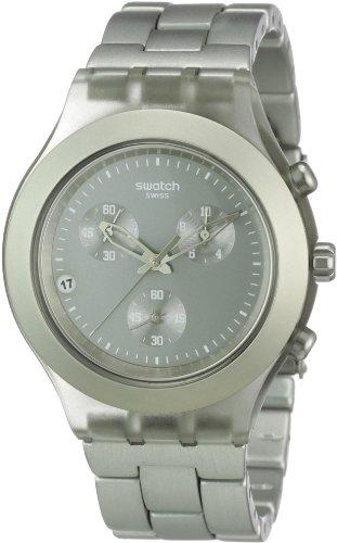 Swatch SVCG4000AG - Reloj analógico de caballero de cuarzo con correa de aluminio marrón