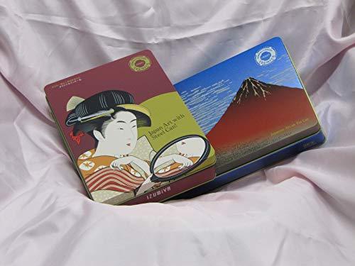 泉屋クッキー缶 浮世絵 美人画&赤富士 2缶セット