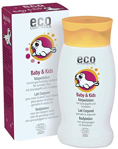 eco cosmetics Baby & Kids Körperlotion, Bio-Bodylotion, vegane Hautpflege, kontrollierte Naturkosmetik, 1 x 200 ml
