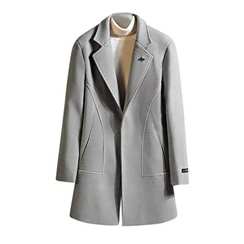 llzshoutao Longs Manteaux pour Hommes Parka Manteau Hiver Casual Veste Polaire Slim Fit Vêtement de Travail Chaud Idéal pour Un Usage Quotidien et des Vestes Professionnelles@gM