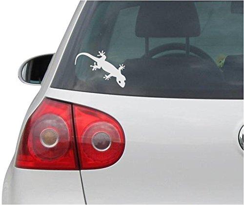 Aufkleber / Autoaufkleber - JDM - Die cut - Gecko Decal Auto Window Laptop Vinyl - Folie Sticker - silber - 121mmx88mm